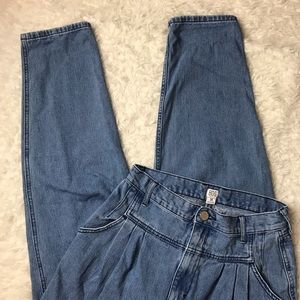 UO BDG High Rise Pleated Carrot Jeans